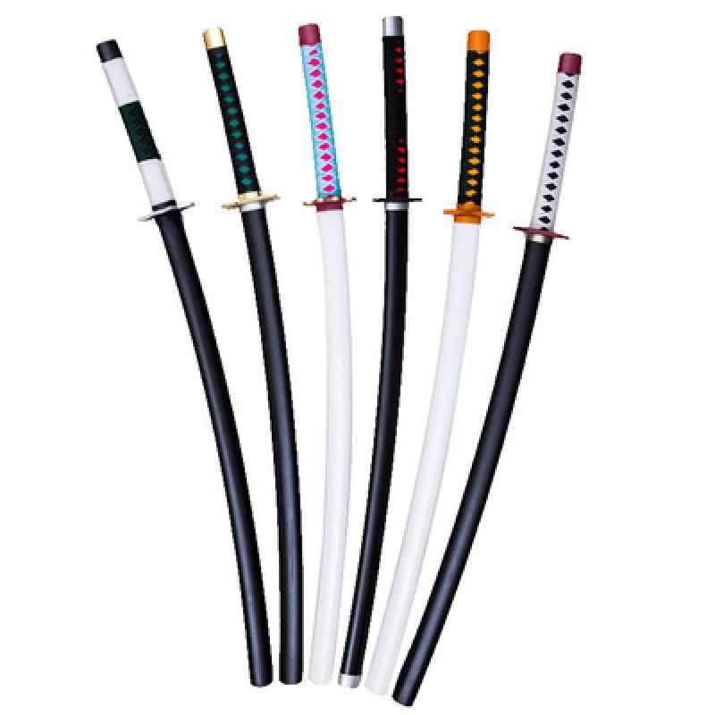 100 cm espada de madeira lâmina do diabo papel jogando armas animadas crianças brinquedos espada de madeira cos arma faca de madeira presente