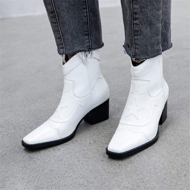 Prova Perfetto Retro Ankle Boots Mulheres Inverno Impresso Botas de Deslizar sobre As Mulheres Sapatos de Mulher de Couro Genuíno Zipper Botines Mujer 2019
