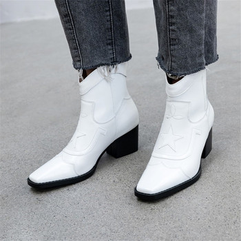 Prova Perfetto Retro Ankle Boots Women Winter Printed Genuine Leather Slip on Women Boots Shoes Woman Zipper Botines Mujer 2019