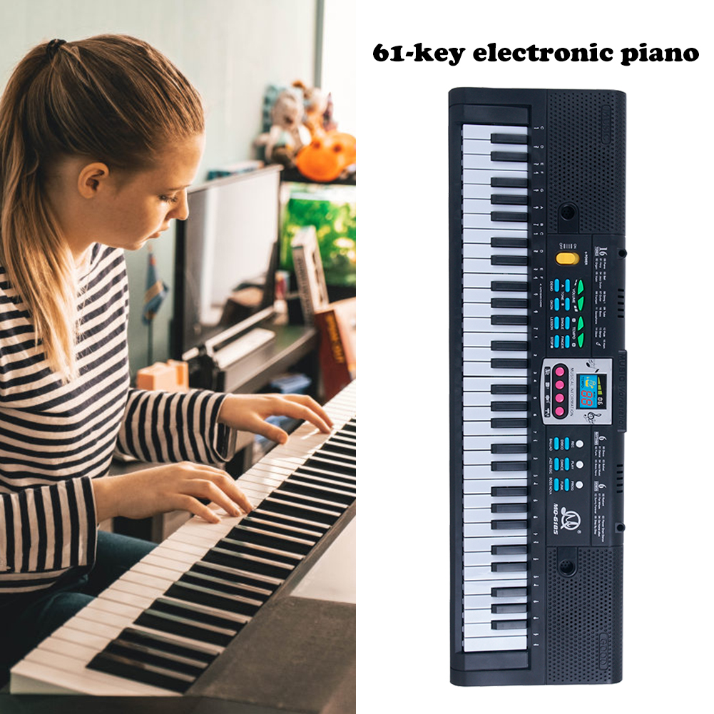 61Keys Electric Piano Children Gift Electric Key Board Piano Portable Digital Music Electronic Keyboard Music Learning Toy
