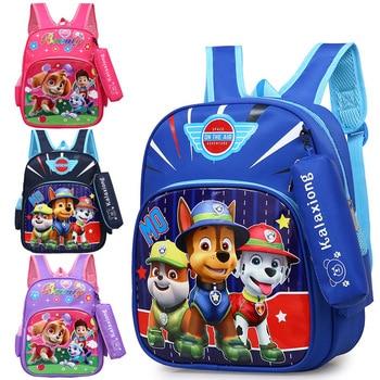 Cute Paw Patrol Bag Cartoon Figure Skye Everest Marshall Ryder Chase Print Cute Anime Backpack Kindergarten Children Toy Bag