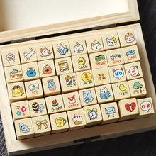 40 шт милые Мультяшные марки Детская Игрушка Дерево Скрапбукинг