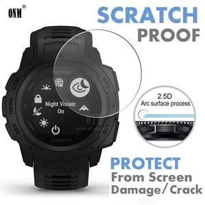 Image 1 - 9H Premium Tempered Glass For Garmin Instinct Tide GPS Smartwatch Screen Protector Explosion Proof Film Accessories