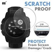 9H Premium temperli cam için Garmin Instinct gelgit GPS Smartwatch ekran koruyucu patlamaya dayanıklı Film aksesuarları