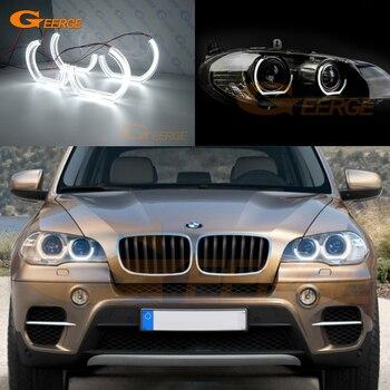 For BMW X6 E71 E72 X6M X5 E70 X5M 2008-2014 Excellent DTM M4 Style led Angel Eyes kit halo rings Ultra bright DRL