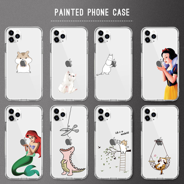 For iPhone X Case 5 5S 6 6S 7 8 Plus X XS Max XR Snow White Princess For Cover iPhone 7 SE Soft TPU For Capa iPhone 8 11Pro Case