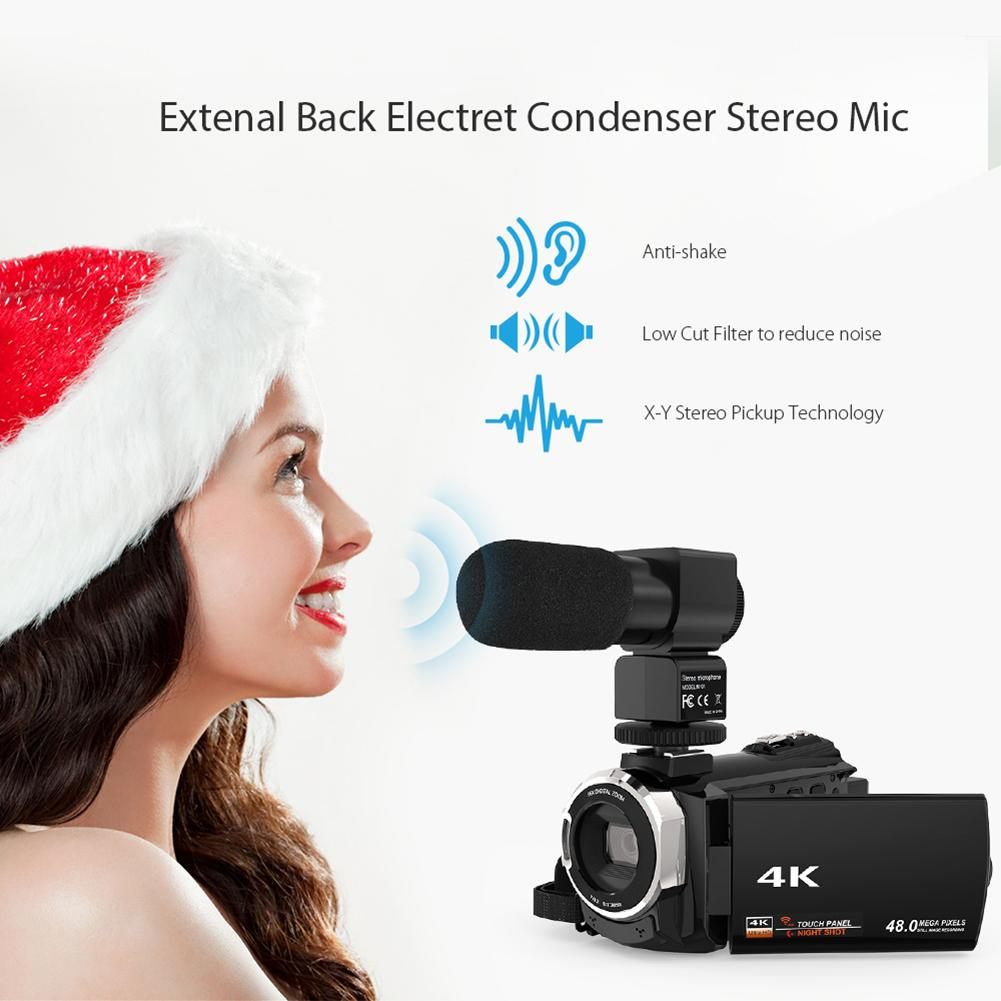 4K WiFi Ultra HD 1080P 48MP 16X ZOOM caméra vidéo numérique caméscope + Microphone + objectif grand Angle - 2