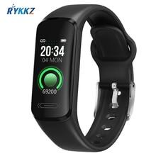 2021 Smart Fitness Bracelet Waterproof Smart Band Body Temperature Heart Rate Monitor Electronic Health Wristband for Men Women