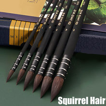 Aquarelle peinture Pinceau écureuil cheveux bois support acrylique peinture Aquarelle Art Pinceau stylos pinceaux Pinceau Aquarelle fournitures