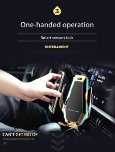 Image 5 - شاحن سيارة Qi لاسلكي 10 وات أنيق لهاتف آيفون XS X 8 مزود بإضاءة LED محيطة قابلة للتدفق لهاتف سامسونج S9 S10 هواوي