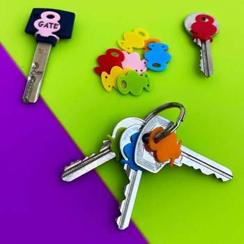 Pokrowiec na klucz silikonowy etykiety na klucze nakładka na klucze identyfikatory kluczy pokrywa klucza ochraniacz na klucze etykieta na klucze kluczowe akcesoria tanie i dobre opinie CN (pochodzenie) People