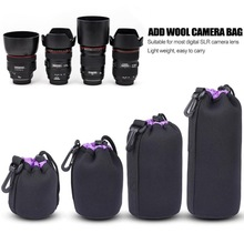 Protector Case Camera-Lens Waterproof Neoprene Pouch-Bag XL Video Soft 3-Color Full-Size