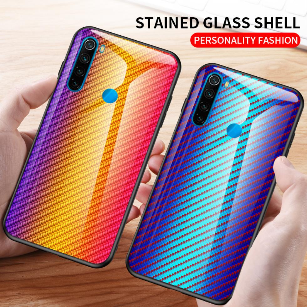 For Xiaomi Redmi K20 8 8A 7 7A 6 6A 5 Plus S2 Note 8T 6 5 Pro 5A Prime 4X Fashion Slim Colorful Tempered Glass Phone Case Cover image