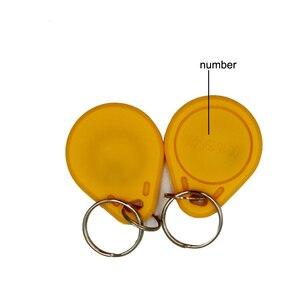 Image 3 - 100pc/lot 125khz RFID Keychain NO3 ID Keyfob RFID Tag TK4100 Access Control Card Sticker Key Fob Ring Proximity
