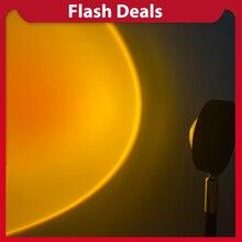Lampe Led USB au coucher du soleil, projecteur, luminaire décoratif d'intérieur, idéal pour un bureau, une chambre à coucher, un Bar ou un café