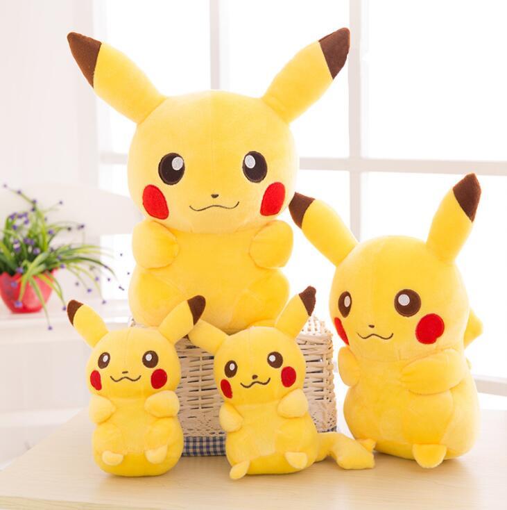 20cm high quality Pikachu Plush Toy Stuffed Toy Pokemon dolls Anime Toys for Children Doll for Kid Baby Birthday Gifts Anime