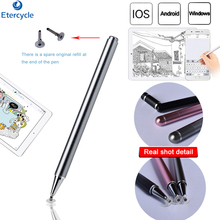 все цены на Tablet/phone Stylus Pen For Windows/Android/IOS Capacitive screen tablet/phone quality Stainless Touch pen For apple pencil онлайн