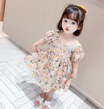 Baby Girls Dresses Spring Baby Girls Princess Clothes Set Children s Long Sleeve Floral Tops Strap Dress for Girls Clothes Sets