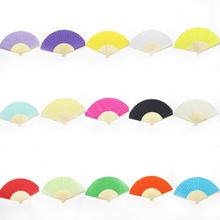 Color blank paper fan children draw graffiti white embryo fan Color blank paper fan DIY handmade materials