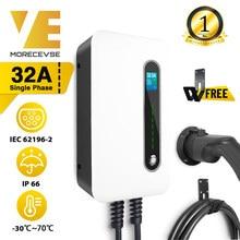 1 Fase Ev Laadstation Kabel 32A Elektrische Auto Oplader Met Type 2 Plug 7.2kw Iec 62196-2 Evse niveau 2 TEC62196-2 Standaard