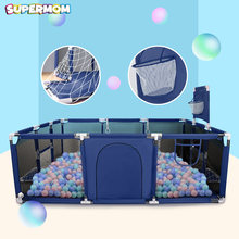 Baby Playpen Children Safety Barrier Pool Balls Foldable Kids Basketball Football Field For 0-6 Years Old Game Tent Railing(China)