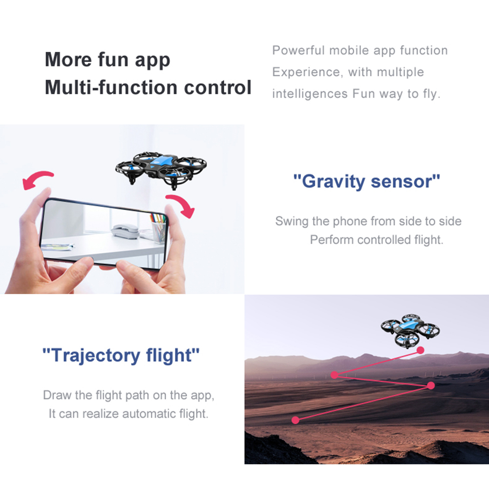Hc2f1ddec4873423990e8e0d77838d8b4K - New V8 Mini Drone 4K 1080P HD Camera WiFi Fpv Air Pressure Height Maintain Foldable Quadcopter RC Dron Toy Gift