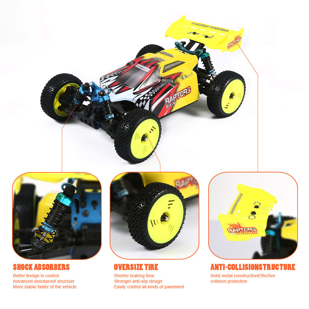 RC Car High Speed 60KM/H 1:16 Racing Climbing Car 2.4G Remote Control Toy Cars On The Radio Controlled 4x4 Drive Off Road Toys - 6