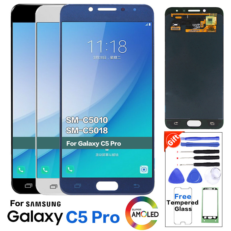 Original Service pack Quality <font><b>LCD</b></font> Display <font><b>for</b></font> <font><b>SAMSUNG</b></font> <font><b>Galaxy</b></font> <font><b>C5</b></font> <font><b>Pro</b></font> <font><b>LCD</b></font> Display C5010 <font><b>LCD</b></font> Touch <font><b>Screen</b></font> Digitizer <font><b>C5</b></font> <font><b>pro</b></font> Pantalla image