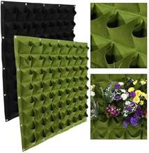 64 кармана, вертикальная сумка для посадки, ранцы, цветочный растущий контейнер для двора, сада, уличный декор, черный/зеленый