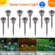 10 шт светодиодные садовые фонари на солнечной батарее уличные