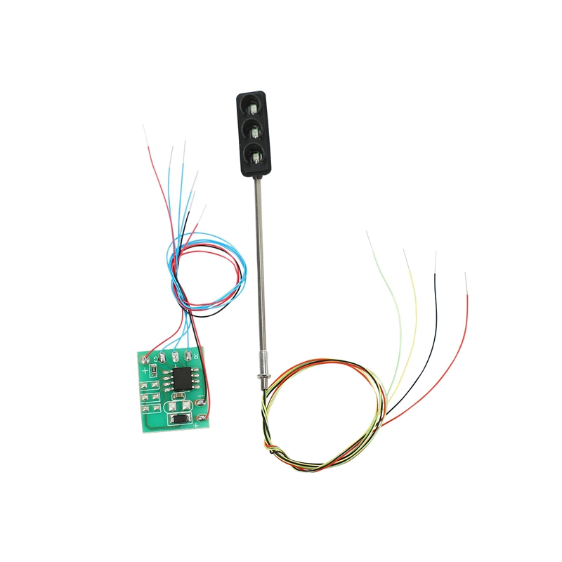 1 Set Traffic Light Signal HO OO Scale LED Model Architecture Train Railroad Crossing Walk Street + Circuit Board