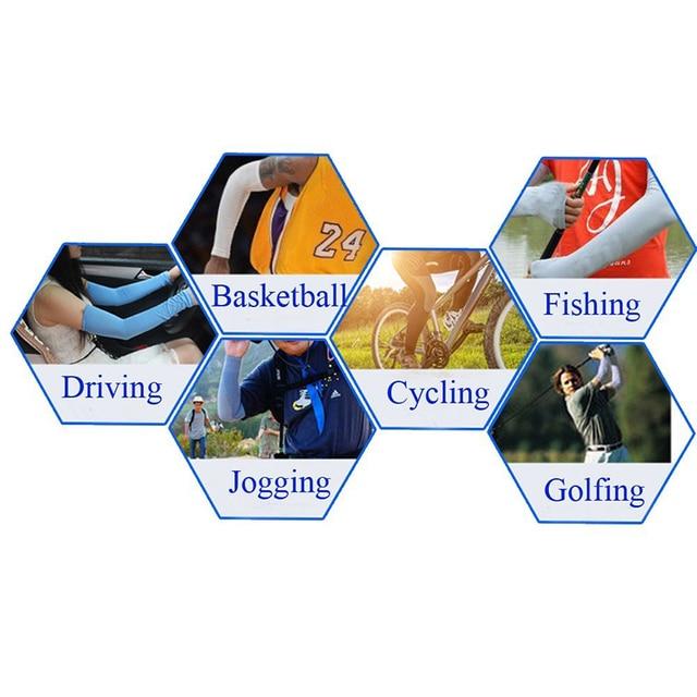 Luva de compressão para braço esportivo, 2 peças, manga de compressão, para basquete, ciclismo, braço, aquecedor, verão, corrida, uv, vôlei, protetor solar, # ed 6