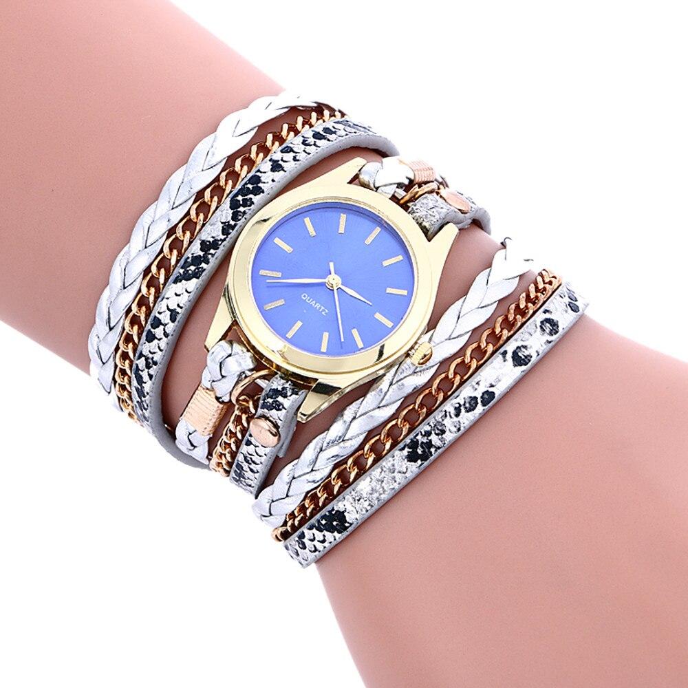 Богемный стиль, модный плетеный кожаный браслет, женские наручные часы, подарок на день рождения, женские часы, четыре сезона, модный держат...
