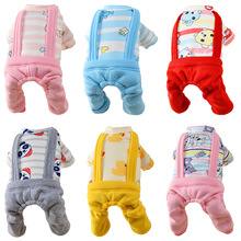 Winter Pet Dog Clothes for Dogs Overalls Pet Jumpsuit Cartoon Dog Coat Puppy Cat Clothing