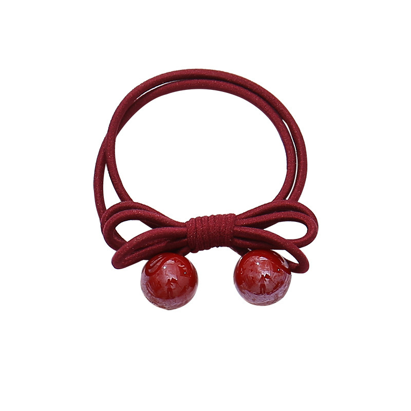 High Elastic Rope Adult Ball Elastic Hair Bands Accessories For Women's Love Rubbers Rubber Tight Holder Scrunchies Headdress