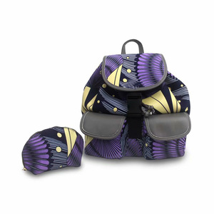 Image 3 - Micle Fashion african wax bag sets 3 pieces/set ankara wax handbag matching 6 yards real best soft new wax fabric