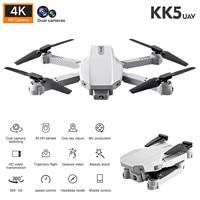 Rc Drone Kk5 Wifi Fpv Mit 4k Hd Dual Kamera One-key-Automatische Rückkehr Faltbare Quadcopter Fernbedienung drone Spielzeug Geschenk # g35