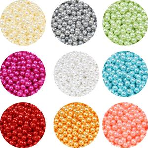 4mm 500pcs Round Multi No Hole Acrylic Imitation Pearl Beads For DIY Scrapbook Decoration Crafts Clothing Shoes Making Supplies