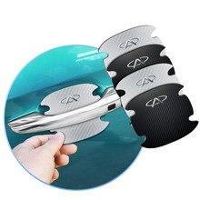 4 pçs porta do carro lidar com película de proteção etiqueta para chery fulwin qq tiggo 3 5 fora t11 a1 a3 a5 amuleto m11 eastar elara acessórios