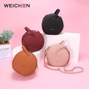 Image 2 - HOT Circular Design Fashion Women Shoulder Bag Leather Womens Crossbody Messenger Bags Ladies Purse Female Round Bolsa Handbag