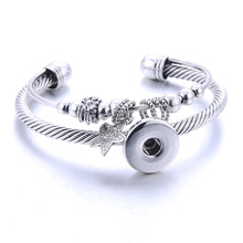 2020 New Fashion Adjustable Chain Star Bracelets Metal Snap Bracelet Fit 18MM Snap Buttons DIY Snap Jewelry For Women