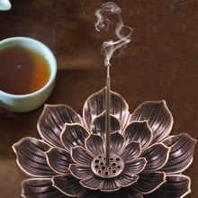 Incense-Holder Cone Lotus-Stick Temples Studios Home-Decoration Yoga And Alloy