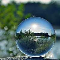 Fotografia de vidro bola de cristal com suporte 50/80mm esfera fotografia foto tiro adereços lente clara artificial bola decoração presente|Bolas decorativas| |  -