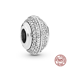 2019 New 925 Sterling Silver Beads Sparkling Pave Charms fit Original Pandora Bracelets DIY Jewelry For Women charms beads 100% 925 sterling silver sparkling cz fit original pandora bracelets diy jewelry suitable for women