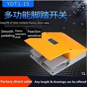 Прямая продажа двойная педаль YDT1-15 ножной переключатель серебряные контакты ножная педаль (желтый/черный)