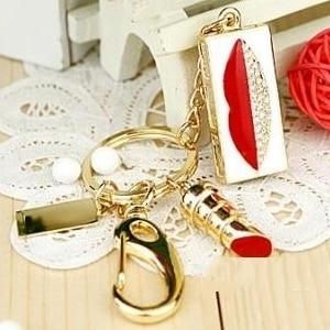 Fashion Jewelry Kiss Hickey USB Flash Drive 16GB 32GB 64GB USB Creativo 2.0 Flash Memory Stick Pen Drive 1TB 2TB Pendrive Gift