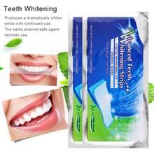 Profissional 80Pcs/40 Pares Avançado Higiene Oral escova de Dentes Branqueamento Tiras de Remoção Da Mancha Limpa Отбеливание Зубов