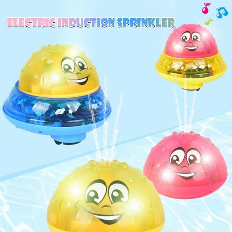 Automatic Music Lighting Effect Baby Toddlers Gift Ecofriendly Electric Induction Sprinkler Ball Water Spray Light Baby Bath Toy