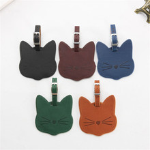 Cat Luggage-Tag Suitcase Id-Tags Travel-Accessories Label-Bag Name Zoukane for Couple