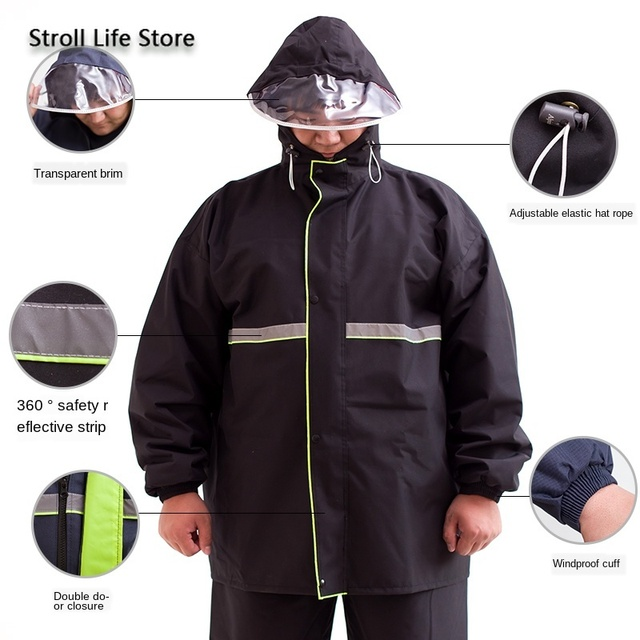 Add Fertilizer To Increase Raincoat Suit Adult Men Rain Coat Double Layer Waterproof Large Plus Fat People Raincoat Gift Ideas 3
